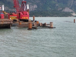 Photo 3 - Gangway Landing Platform Falsework and Driving Frame
