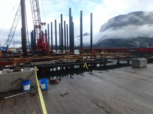 Photo 3 - Preparing starter sections of piles for coated pipe splices