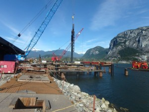 Photo 4 - Impact driving last wharf pile
