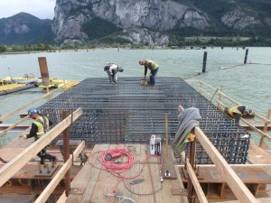 Photo 4 - North Mooring Dolphin Reinforcing Installation