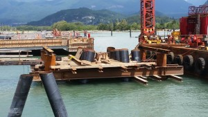 Photo 1 - Gangway landing platform falsework installation