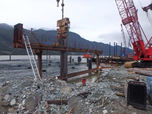 Photo 1 - Start of bulkhead wall installation