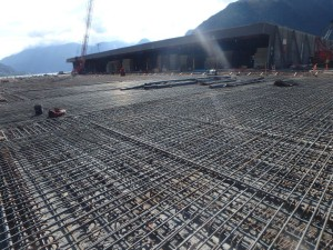 Photo 2 - Deck topping reinforcing installation