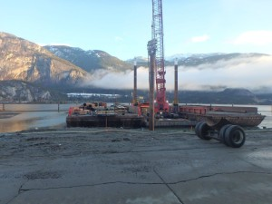Photo 2 - Installation of Trestle 2 temporary piles