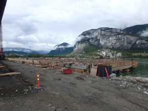 Photo 2 - Wharf progress viewed from the south