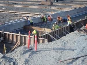 Photo 3 - Installing Relieving Slab Reinforcing Cages