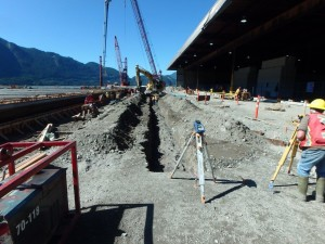 Photo 3 - Utilities installation on south half of wharf