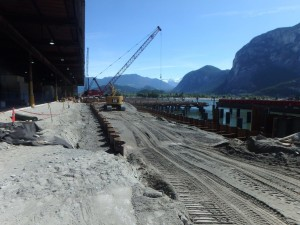 Photo 4 - Bulkhead anchor rods installed and backfilling at south end of wharf