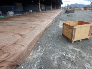 Photo 4 - New apron slab wet curing