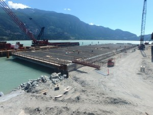 Photo 4 - Wharf progress viewed from the north end of wharf