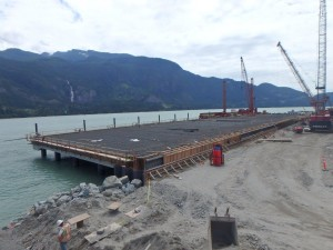 Photo 4 - Wharf progress viewed fromt the north
