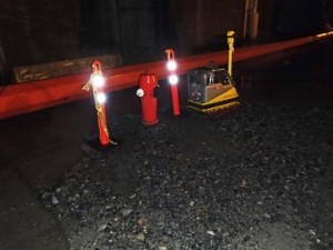 North temporary fire hydrant installation