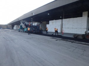 Photo 3 - Paving over new electrical duct bank along Warehouse 2