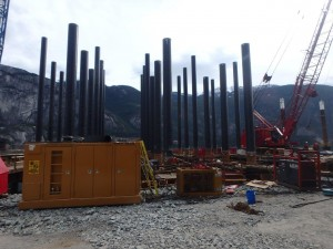Photo 5 - Piles on Bent Nos. 2 to 6 ready for final driving